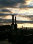 urban,city,london,architecture,power,station,battersea,sun,river,dusk,cityscape,sky