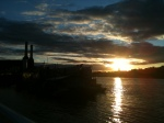 urban,city,london,architecture,power,station,battersea,sun,river,dusk,cityscape,sky