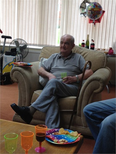 My Great Uncle Jack 'Bombadeer Vosper' on his 90th birthday